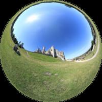 Są to ruiny zamku leżącego na Jurze Krakowsko-Częstochowskiej, wybudowanego w systemie tzw. Orlich Gniazd, we wsi Podzamcze. Zamek leży na najwyższym wzniesieniu Jury Krakowsko-Częstochowskiej – Górze Zamkowej wznoszącej się na 515,5 m n.p.m.