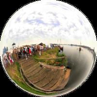 Wraz z rozpoczęciem wielkiej wędrówki ludów (IV-VI wiek n.e.) na wyspie Wolin zaczęli pojawiać się Słowianie. Położenie nad Dziwną oraz dostępność do morza stanowiły doskonałe warunki do założenie w tym miejscu osady. Dodatkowym atutem były szlaki handlowe przebiegające przez te tereny