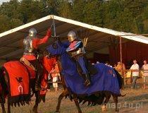 IV Europejskie Święto Bursztynu. Walka rycerzy. (fot. Łukasz Konieczny)