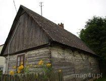 Drobnice. Dom drewniany, Drobnice-Dąbrowa 4, XX w. (fot. Marta Pabich-Makoska)