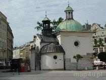 Kraków. Kościół pw. św. Wojciecha stojący na Rynku Głównym (fot. Piotr Wojtaszek)