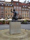 Warszawa. Pomnik Syrenki na Starym Rynku