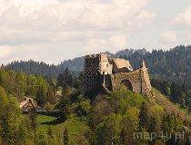 Czorsztyn. Ruiny zamku Wronin, XIII w. (fot. Marek i Ewa Wojciechowscy)