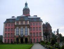 Wałbrzych. Zamek Książ. Widok na Zamek Główny z dziedzińca honorowego (fot. Piotr Wojtaszek)