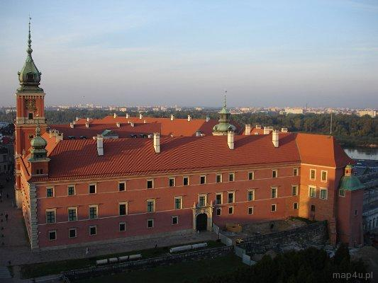 Warszawa. Widok na zamek królewski