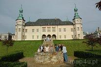 Kielce. Widok na Pałac Biskupi od strony ogrodu