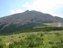 Karkonowski Park Narodowy. Widok na najwyższy szczyt Karkonoszy Śnieżkę (fot. Piotr Wojtaszek)