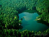 Ożarów. Zbiornik wodny wśród zieleni leśnej (fot. Kacper Dondziak)