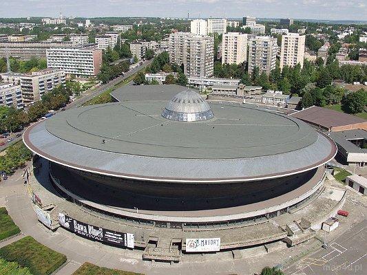 Spodek, hala widowiskowo-sportowa w Katowicach.
