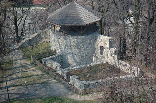 Cieszyn. Widok na ruiny zamku piastowskiego