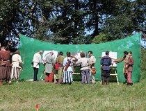 Grzybowo. XII Międzynarodowy Zjazd Wojowników Słowiańskich 2011. Turniej łuczniczy (fot. Łukasz Konieczny)