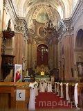 Wieluń. Wnętrze kościoła pw. św. Józefa w dawnym zespole klasztornym Pijarów, ul. Barycz 2, XVIII w. (fot. Marta Pabich)
